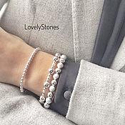 Украшения handmade. Livemaster - original item The Specificity bracelet with metal beads on the chain. Handmade.