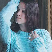 Одежда ручной работы. Ярмарка Мастеров - ручная работа Мятный свитер-оверсайз. Handmade.