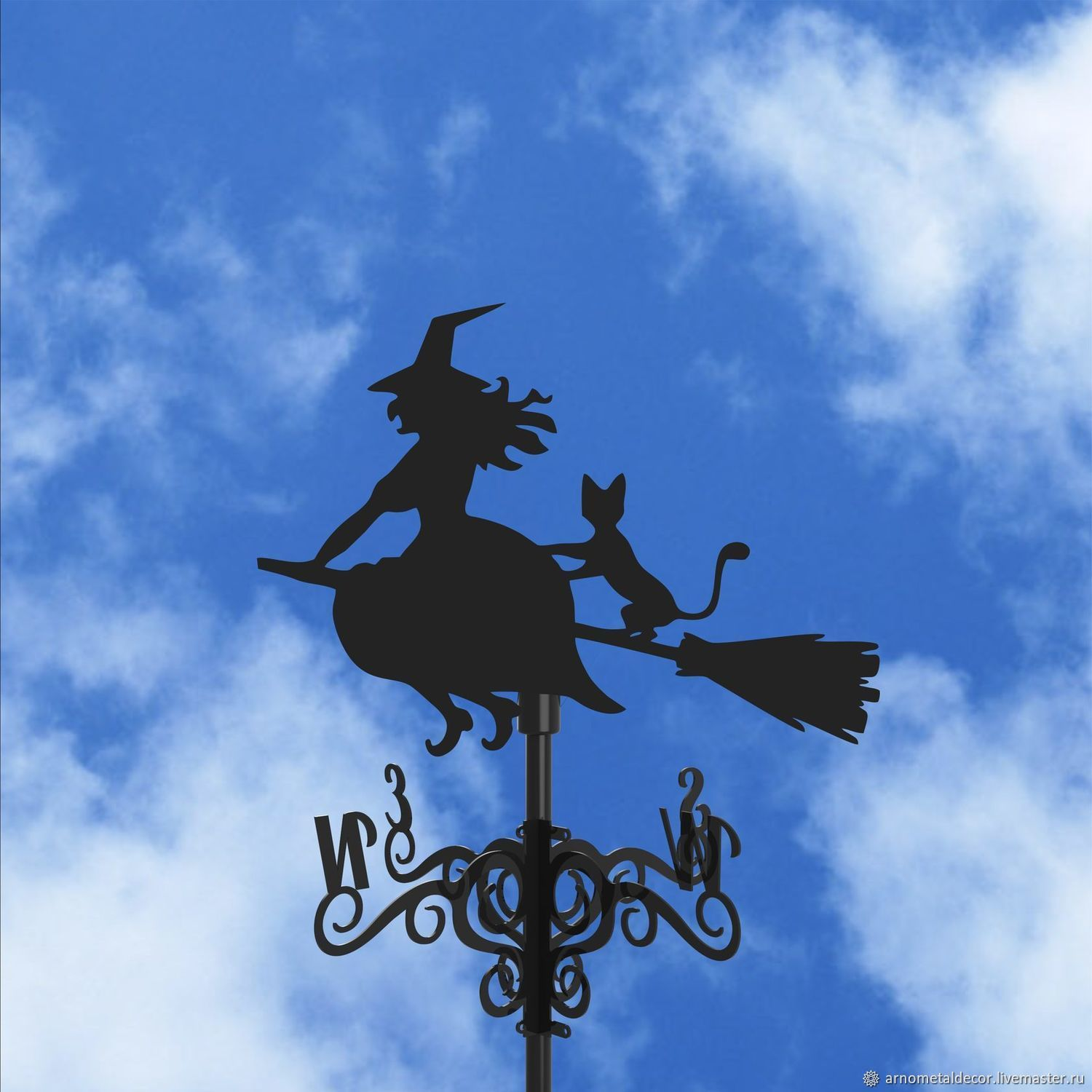 Weather vane on the roof ' The Witch and the Cat', Vane, Ivanovo,  Фото №1