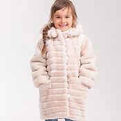 handmade. Livemaster - original item Natural children`s fur coat from Mouton