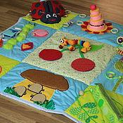 Куклы и игрушки ручной работы. Ярмарка Мастеров - ручная работа Развивающий коврик Яркое Лето-2. Handmade.