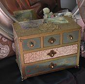 Для дома и интерьера ручной работы. Ярмарка Мастеров - ручная работа Комодик для украшений фамильный, подарок девушке. Handmade.