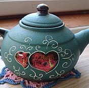 Посуда ручной работы. Ярмарка Мастеров - ручная работа Чайник керамика. Handmade.