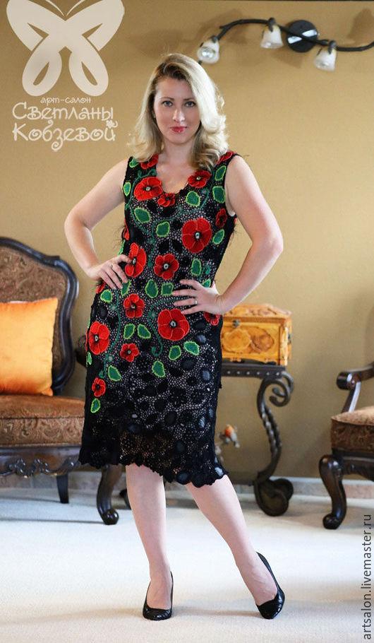 Платья ручной работы. Ярмарка Мастеров - ручная работа. Купить Платье с маками-2. Handmade. Платье, женственность