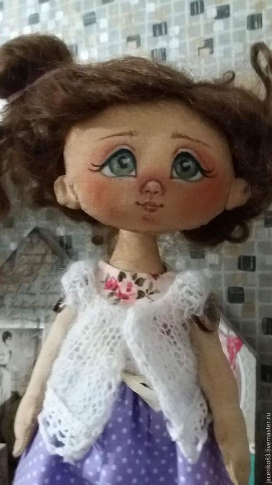 Куклы тыквоголовки ручной работы. Ярмарка Мастеров - ручная работа. Купить куколка-незабудка. Handmade. Кукла ручной работы