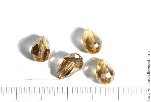 Для украшений ручной работы. Ярмарка Мастеров - ручная работа. Купить Бусина подвеска в форме капли, цвет золотой, размер 12х8мм. Handmade.