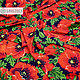 Red Poppies swim fabric. Fabric. SLAVYANKA. My Livemaster. Фото №5