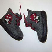 """Обувь ручной работы. Ярмарка Мастеров - ручная работа Ботинки """" Мухоморы"""". Handmade."""
