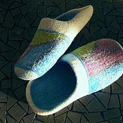 Обувь ручной работы. Ярмарка Мастеров - ручная работа Тапки домашние валяные.. Handmade.