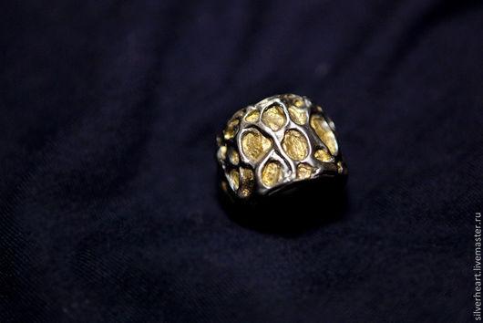 Кольца ручной работы. Ярмарка Мастеров - ручная работа. Купить Кольцо ТАЮЩАЯ ЛАВА серебро. Handmade. Серебро, чернение, серебро