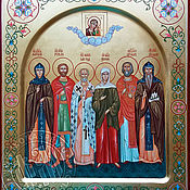 Картины и панно handmade. Livemaster - original item FAMILY ICON.THE ICON OF SELECTED SAINTS. Handmade.