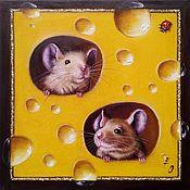 Картины и панно handmade. Livemaster - original item Oil painting Cheese pair. Handmade.