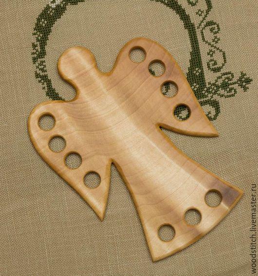 """Миниатюрные модели ручной работы. Ярмарка Мастеров - ручная работа. Купить Органайзер для ниток """"Ангел"""". Handmade. Коричневый, ангел, дерево"""