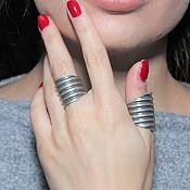 Украшения handmade. Livemaster - original item Minima series ring made of combined 925 sterling silver. Handmade.