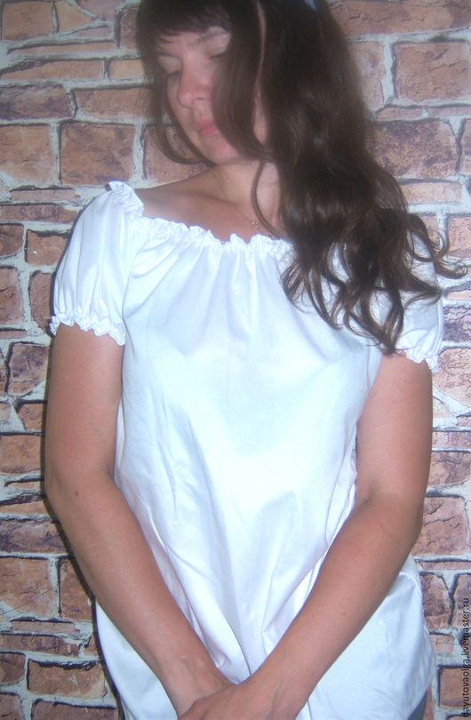 """Блузки ручной работы. Ярмарка Мастеров - ручная работа. Купить Блузка """"Карина""""  белого цвета. Handmade. Молочный цвет, айвори"""