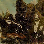 """Картины и панно ручной работы. Ярмарка Мастеров - ручная работа картина """"Волки"""". Handmade."""