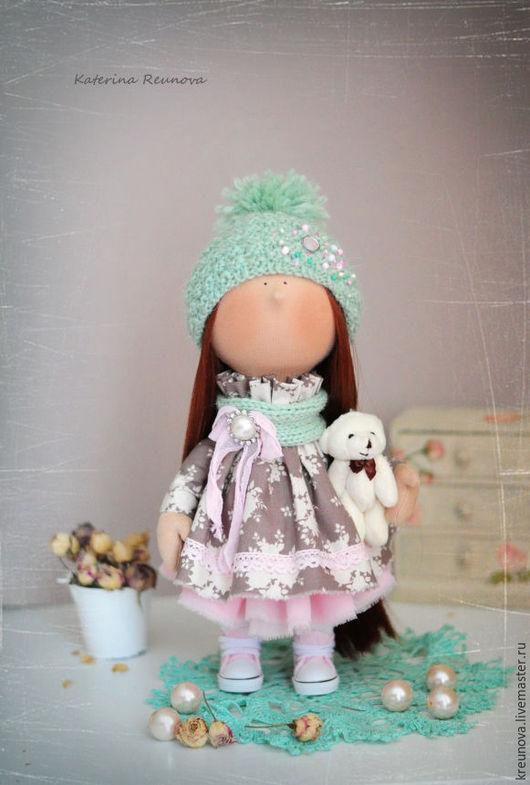 Коллекционные куклы ручной работы. Ярмарка Мастеров - ручная работа. Купить Сюзи. Handmade. Мятный, подарок на новый год, хлопок
