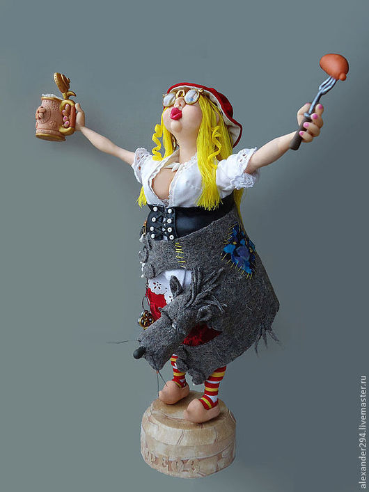 Коллекционные куклы ручной работы. Ярмарка Мастеров - ручная работа. Купить Красная шапочка 2. Handmade. Авторская кукла, шапка