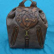 """Сумки и аксессуары handmade. Livemaster - original item Leather backpack """"VIKING"""". Handmade."""