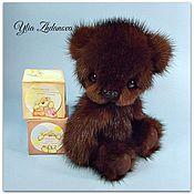 Куклы и игрушки ручной работы. Ярмарка Мастеров - ручная работа Норковый Мишка тедди Алекс. Handmade.