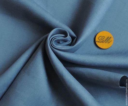 Шитье ручной работы. Ярмарка Мастеров - ручная работа. Купить лен ткань натуральный светло синий. Handmade. Лён натуральный