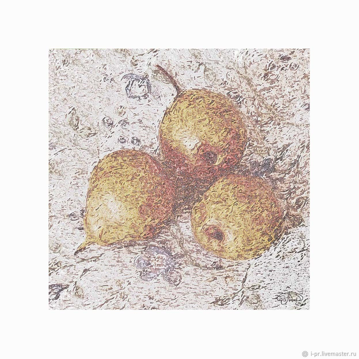 Три груши. Картина, цифровой файл, подходящие шторы, Картины, Волгоград,  Фото №1