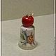 """Миниатюрные модели ручной работы. Ярмарка Мастеров - ручная работа. Купить Авторский коллекционный наперсток """"Яблочко"""". Handmade. Наперсток"""