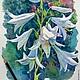 """Картины цветов ручной работы. Ярмарка Мастеров - ручная работа. Купить """"Лилии""""   акварель. Handmade. Лилия, акварельная картина, разноцветный"""
