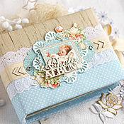 Фотоальбомы ручной работы. Ярмарка Мастеров - ручная работа Альбом для малыша Precious Memories. Handmade.