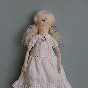 Куклы и игрушки ручной работы. Ярмарка Мастеров - ручная работа Текстильная кукла Девочка со стрекозой.. Handmade.