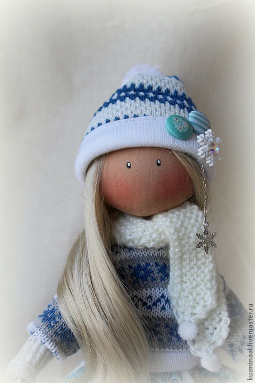 Человечки ручной работы. Ярмарка Мастеров - ручная работа. Купить Текстильная кукла CHLOE. Handmade. Голубой, интерьерная игрушка, кукла