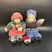 Винтаж handmade. Livemaster - original item Two vintage dolls bisque (porcelain) and soft,original ,England. Handmade.