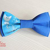 Галстуки ручной работы. Ярмарка Мастеров - ручная работа Бабочка галстук с чеширским котом, хлопок. Handmade.