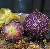 Подарки к праздникам ручной работы. Ярмарка Мастеров - ручная работа Новогодние шары на елку. Handmade.