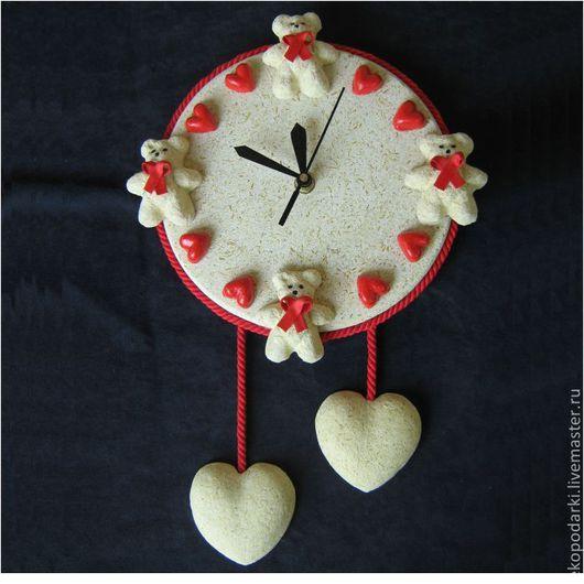 Часы для дома ручной работы. Ярмарка Мастеров - ручная работа. Купить Настенные часы медведь. Handmade. Подарок, эко