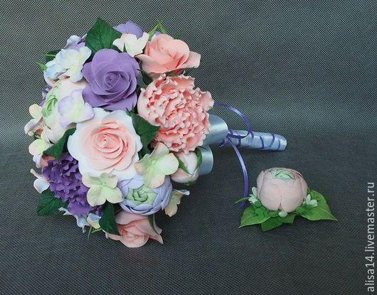 Цветы ручной работы. Ярмарка Мастеров - ручная работа. Купить Букет невесты. Handmade. Разноцветный, нежный