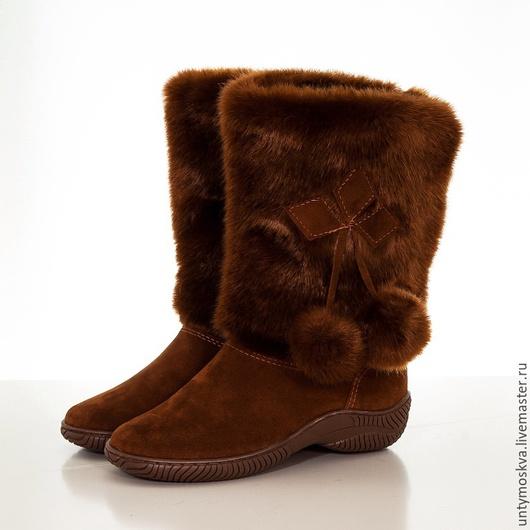 Обувь ручной работы. Ярмарка Мастеров - ручная работа. Купить Унты женские ( литая подошва ) уж44. Handmade.