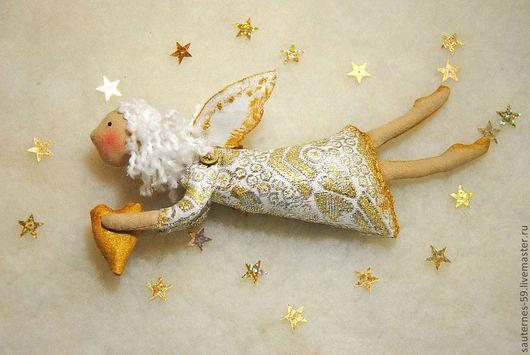 Коллекционные куклы ручной работы. Ярмарка Мастеров - ручная работа. Купить ангел с золотым сердцем. Handmade. Авторская ручная работа