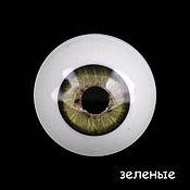 Материалы для творчества ручной работы. Ярмарка Мастеров - ручная работа 28 мм, зеленый Глаза акриловые для кукол. Handmade.