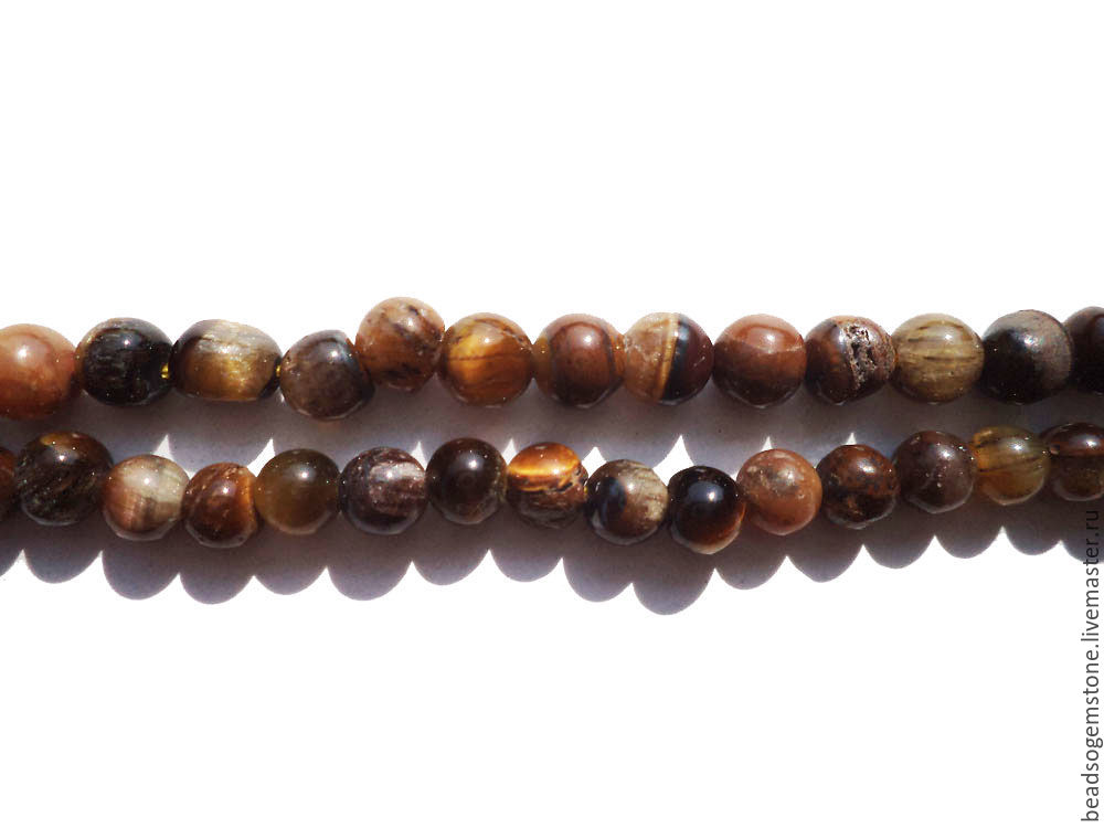 Tiger Eye Smooth Round (Quality D) / TI-001, Beads, Moscow,  Фото №1