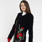"""Пальто ручной работы. Ярмарка Мастеров - ручная работа Пальто в стиле Шанель """" Маки"""". Handmade."""