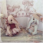 Куклы и игрушки ручной работы. Ярмарка Мастеров - ручная работа Лаванда и Ваделий. Слоники тедди. Handmade.