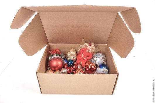 Корзины, коробы ручной работы. Ярмарка Мастеров - ручная работа. Купить Коробка для елочных игрушек 35х25х15 см. Handmade. Коробка