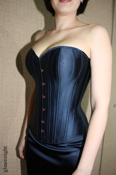 Satin corset with natural Breasts, Corsets, Ekaterinburg,  Фото №1