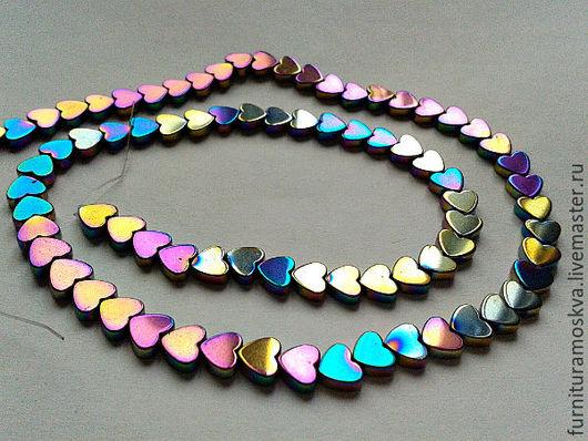 Для украшений ручной работы. Ярмарка Мастеров - ручная работа. Купить Гематит,бусина в форме сердечка,6х6х2 мм. Handmade.