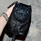 Рюкзаки ручной работы. Ярмарка Мастеров - ручная работа Рюкзак, кожаная сумка -Кошка. Стимпанк. Рюкзак- сумка- кошка из кожи. Handmade.