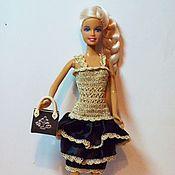 Куклы и игрушки ручной работы. Ярмарка Мастеров - ручная работа Одежда для Барби Вечерний наряд для кукол Барби. Handmade.