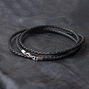 Украшения handmade. Livemaster - original item Leather cord on the neck; 3mm, 4mm, 5mm. Handmade.