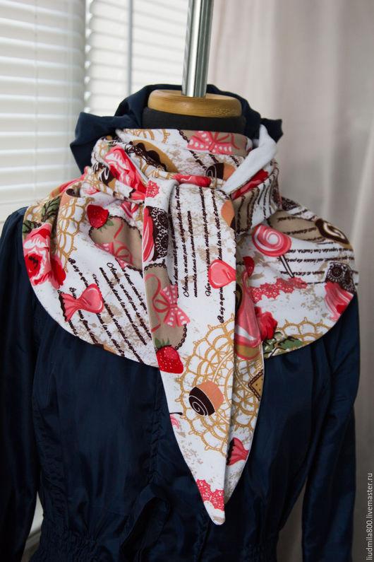 Шарфы и шарфики ручной работы. Ярмарка Мастеров - ручная работа. Купить Женский шарф. Handmade. Комбинированный, стильное украшение