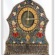 """Для дома и интерьера ручной работы. Ярмарка Мастеров - ручная работа Часы каминные """"Русские эмали"""". Handmade."""